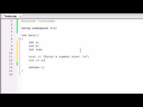 C++ Programming Tutorials   5   Creating a Basic Calculator