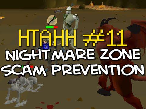 Old School RuneScape Nightmare Zone Scam Prevention HTAHH #11