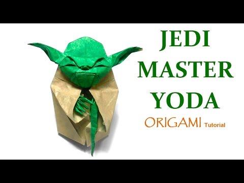 ORIGAMI JEDI MASTER YODA TUTORIAL (Fumiaki Kawahata) 折り紙 ヨーダ оригами учебник Мастер Yoda