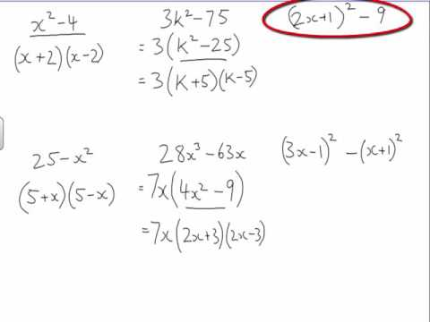 Factorisation using Difference of 2 Squares