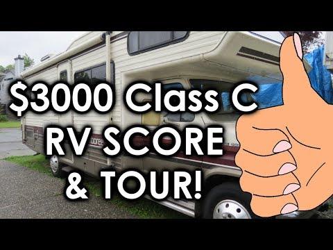 $3000 Class C RV SCORE & TOUR!