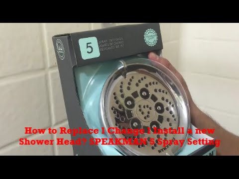 How to Replace a Shower Head l How to Install a Shower Head-How to Change a Shower Head SPEAKMAN DIY