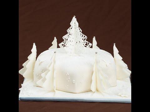 Learn How to make a Filigree Inspire Colorado Christmas Cake