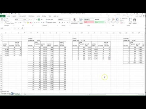Doubling Time activity - Excel instructions
