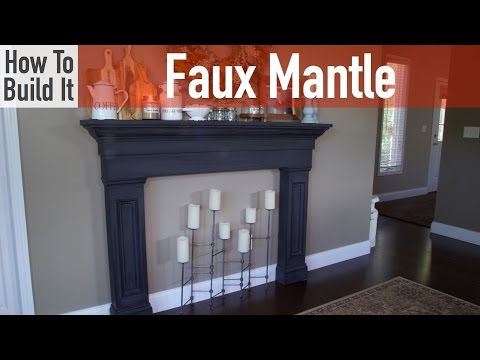How to Build a Faux Mantel