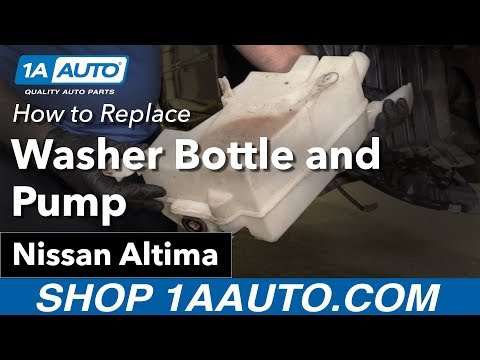 How to Replace Install Washer Fluid Reservoir 02-06 Nissan Altima