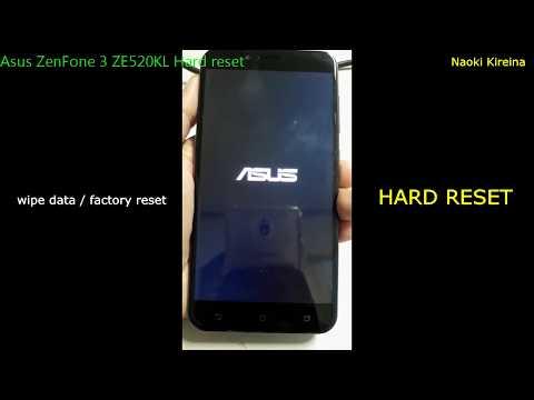 Asus ZenFone 3 ZE520KL Hard reset