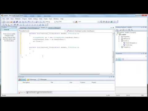 How to Read and Write to Text File - C# Tutorial Visual Studio 2008