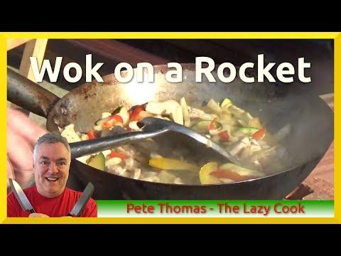 Wok on a Rocket - Turkey Stir-Fry on the Rocket Stove