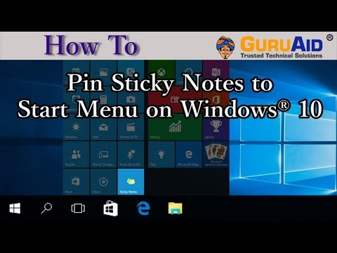 How to Pin Sticky Notes to Start Menu on Windows® 10 - GuruAid
