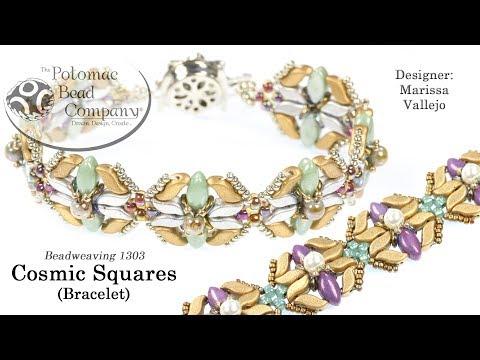 Cosmic Squares Bracelet (Tutorial)