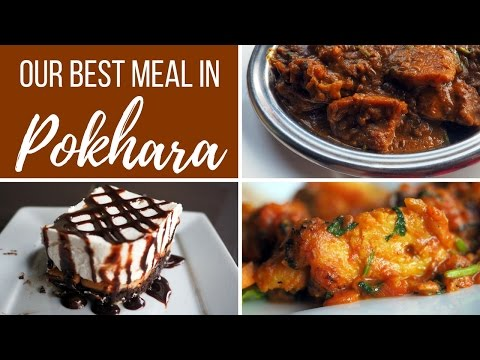 Nepalese Food - Our best meal in Pokhara eating fish in Nepal
