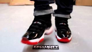 e68864997dc4 ... spain air jordan xi retro bred on feet video at exclucity e7ef2 feb27