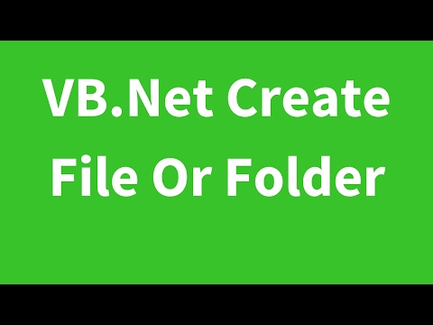 VB.Net - How To Create File Or Directory In Visual Basic.Net [ With Source Code ]