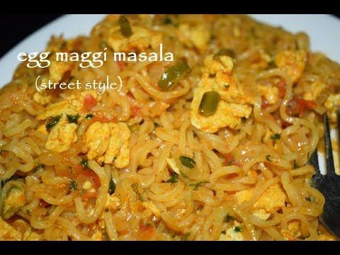 Egg Maggi Masala Recipe / Street Style Egg Maggi Noodles / Maggi Noodles
