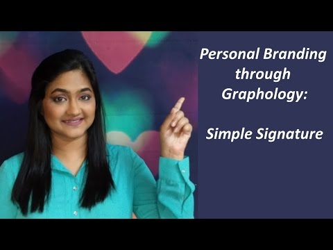 Personal Branding through Graphology: *Simple Signature*