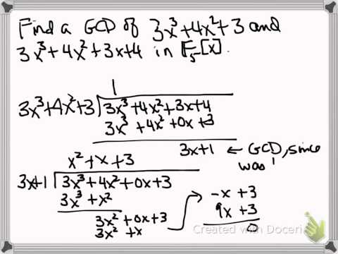 Finding the Greatest Common Divisor of Polynomials Over a Finite Field