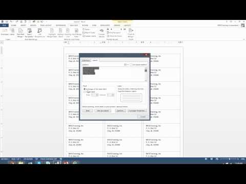 How to print one label on a sheet Microsoft Word 2013