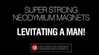 Magnetic levitation - Strong magnets levitating a man
