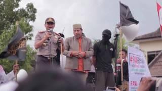 Ormas Islam Solo melakukan Aksi damai di depan Mapolresta solo 23/12/2016