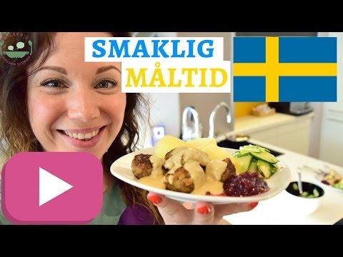 SWEDISH MEATBALLS Recipe | Köttbullar with creamy sauce and pressgurka