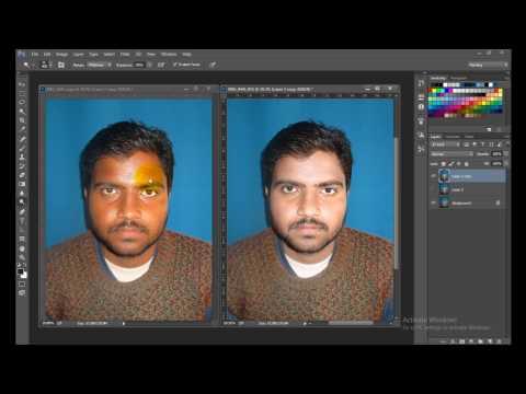 Learn Photoshop in hindi- 21 - Dark to Fair Face काले चेहरे को गोरा बनाए