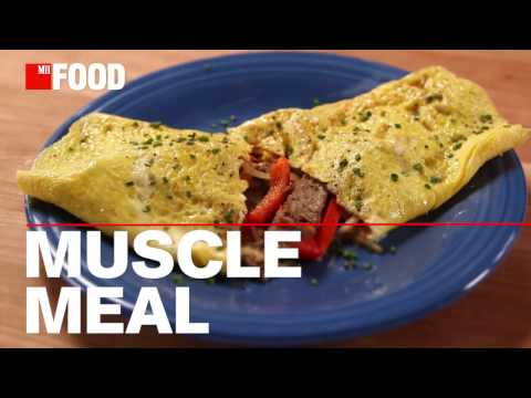 Protein-Loaded Cheesesteak Omelet
