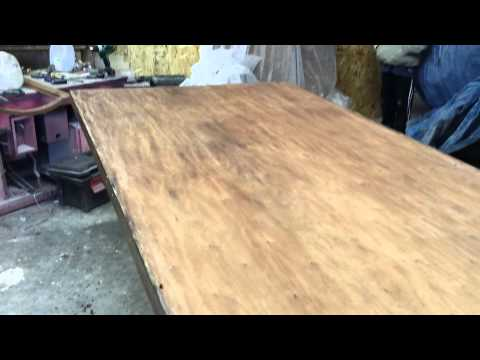 stripping a mahogany table at timeless arts refinishing http://www.timelessartgr.com/