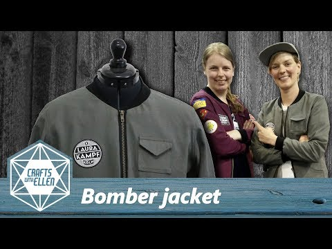 Making a bomber jacket for Laura