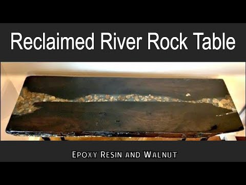 How to Make a River Rock Table - Epoxy Resin and Reclaimed Wood