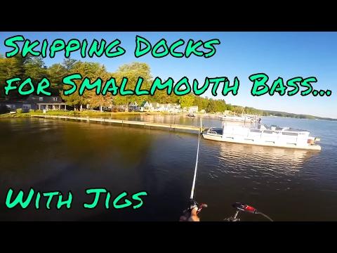 Skipping Docks For Smallmouth Bass - Lake Chautuaqua NY