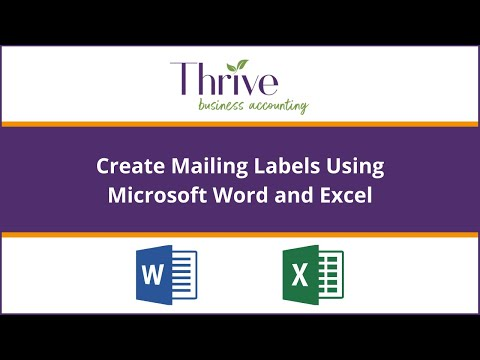 How To Merge Labels in Microsoft Word with Microsoft Excel List