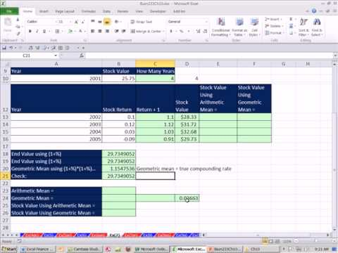 Excel Finance Class 96: Comparing Geometric Mean with Arithmetic Mean For Average Stock Returns