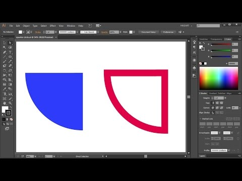 How to Draw a Quarter Circle in Adobe Illustrator