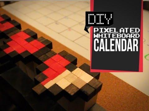 Pixelated Whiteboard Calendar - DIY Geeky Goodies