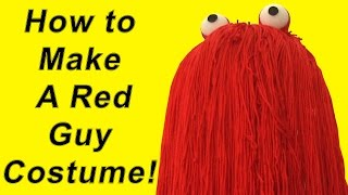 How To Make a Red Guy Costume (DIY)
