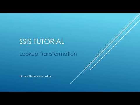 SSIS Tutorial - Lookup Transformation
