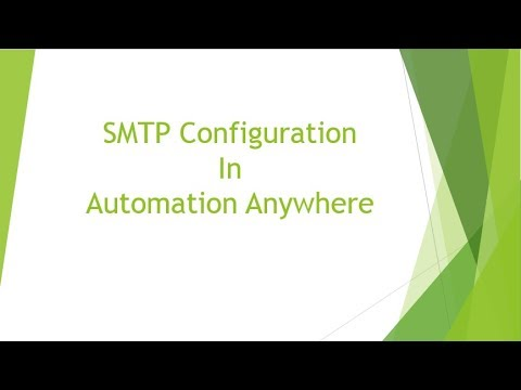 SMTP Configuration in Automation Anywhere