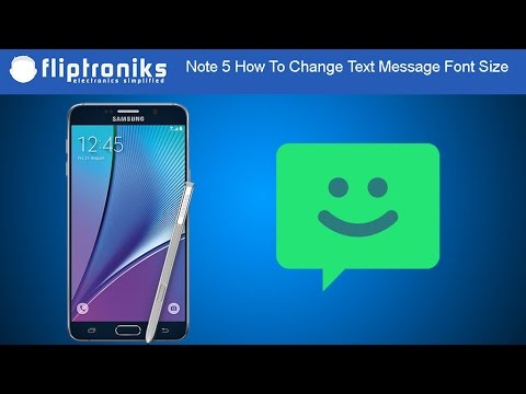 Samsung Galaxy Note 5: How To Change Text Message Font Size - Fliptroniks.com