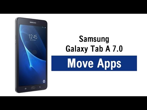 Galaxy Tab A 7 0 - How to Move Apps to a Memory Card