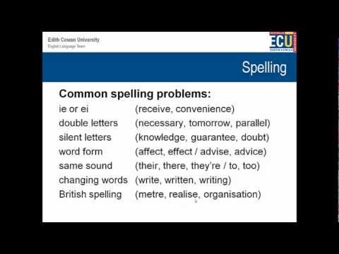 English Writing Workshop - Punctuation and Spelling
