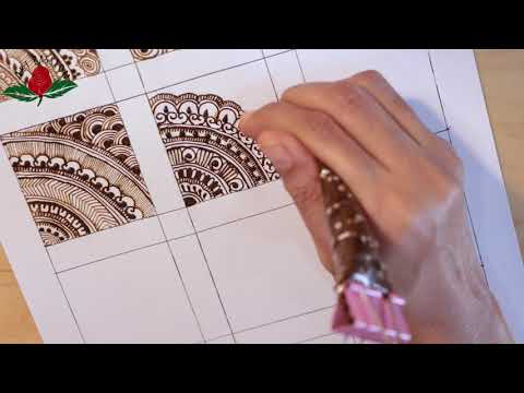embellishment 30 : Learn step by step  intricate mehendi design with filler element