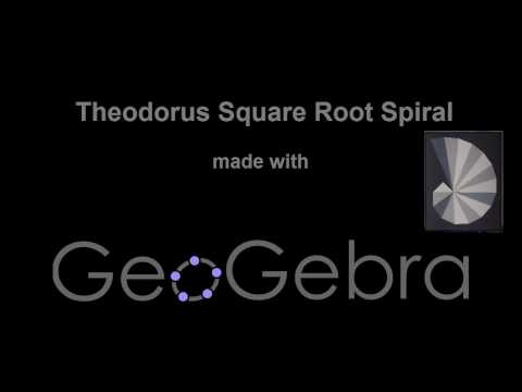 Advanced Geogebra Tutorial - How to create a square root spiral