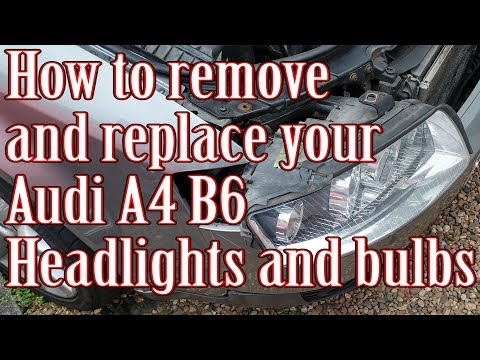 How to remove/replace your Audi A4 B6 Headlights and bulbs