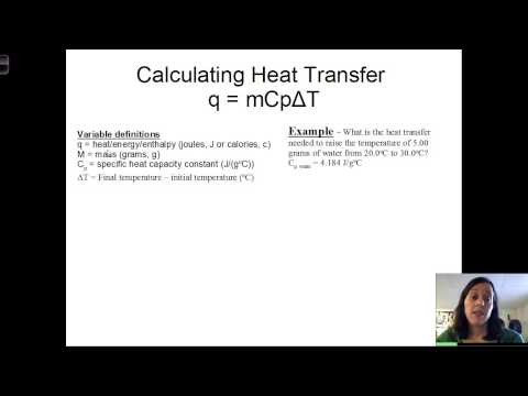 Calculating heat transfer and heat of reaction