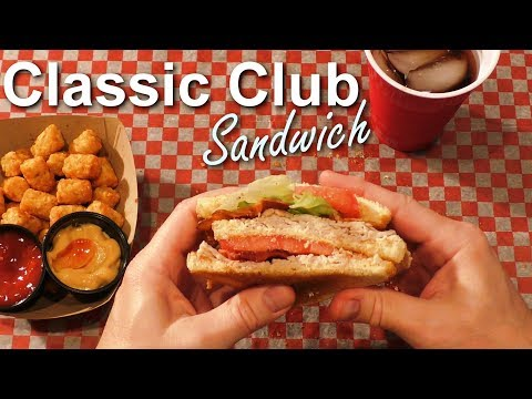 ASMR: Eating a Classic Turkey & Bacon Club Sandwich (No talking)