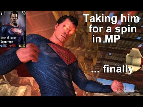 Injustice Mobile: Dawn of Justice Superman in MP, plus how we choose gears