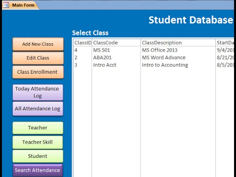 Student Database -MS Access
