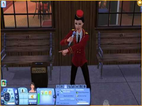 Sims 3 Showtime - Singing for tips