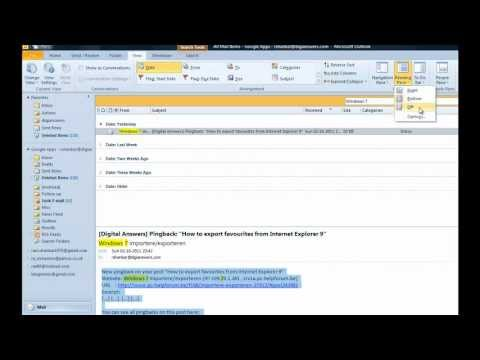 How to turn off reading pane in Outlook 2010